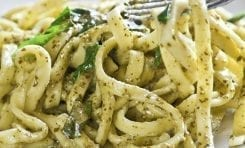 Watercress Pesto Linguine