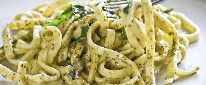 Watercress Pesto Linguine